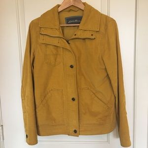 Eddie Bauer corduroy jacket in mustard yellow sz M